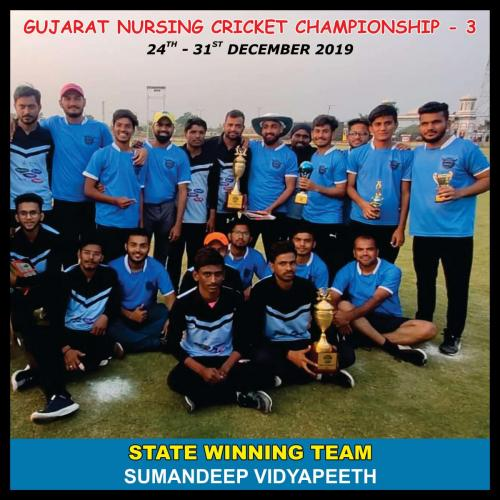Gujarat Nurssing Cricket Championship-3 Winning Team 2020