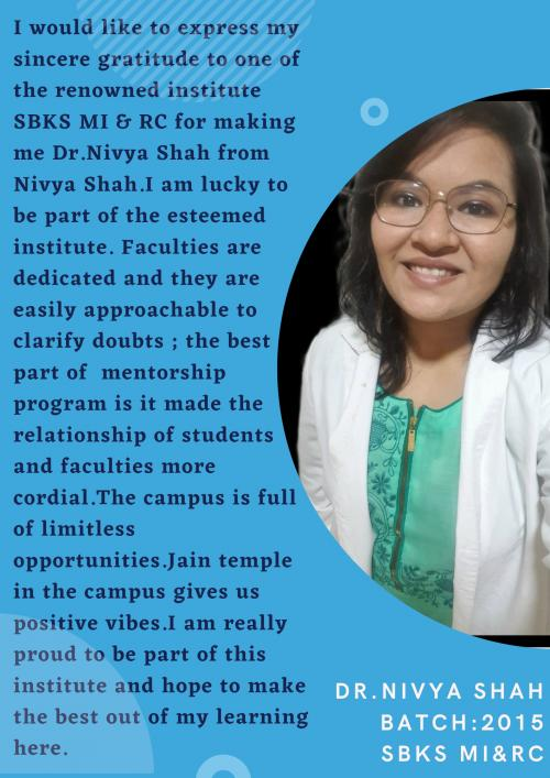 Testiomonial Dr Nivya Shah
